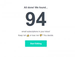 Unsubscribe to Achieve Inbox Zero